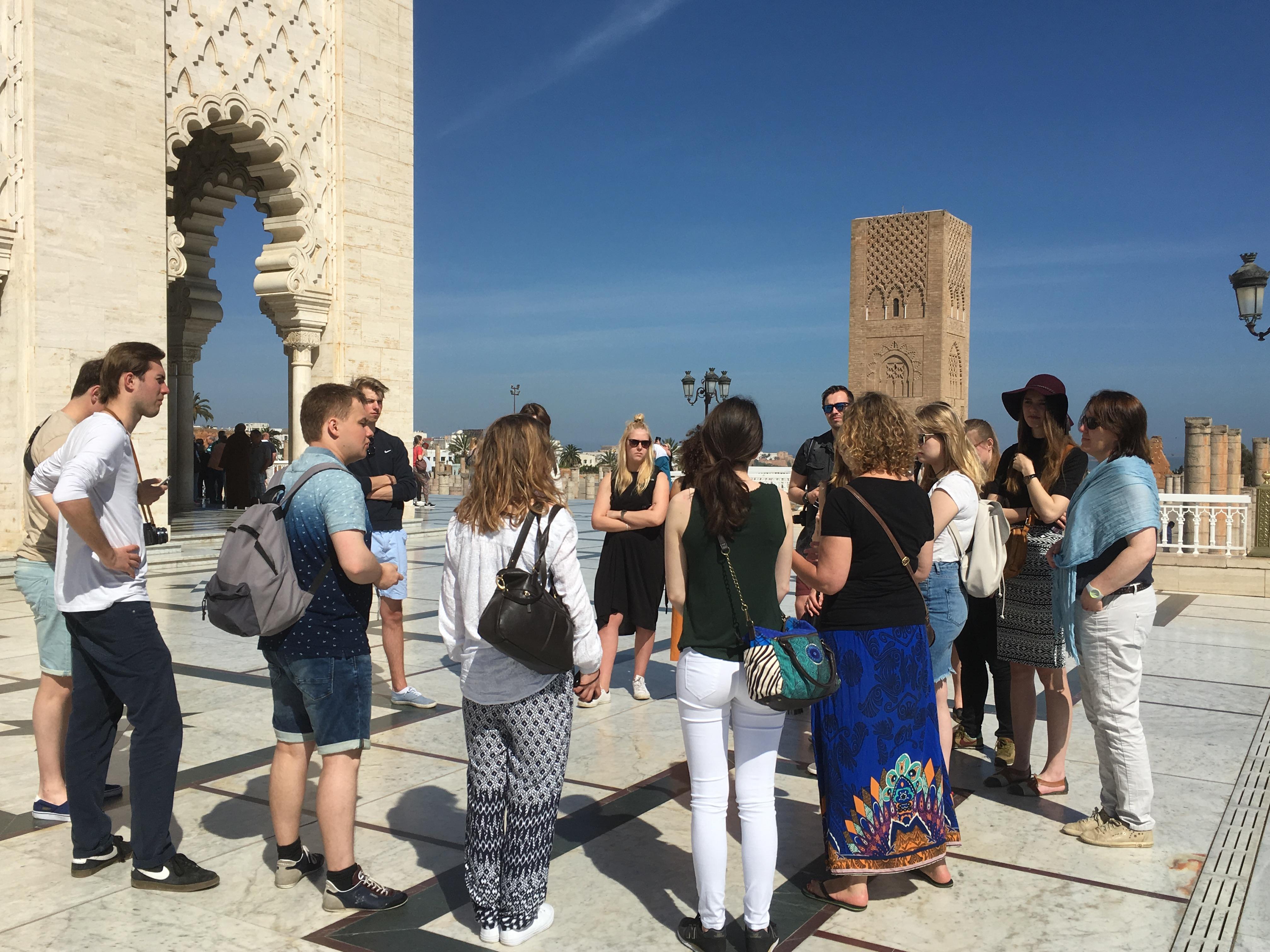 bezoek aan Mausoleum van Hassan II
