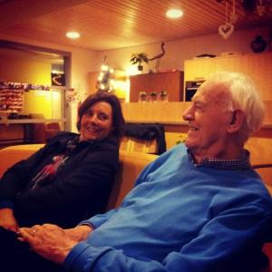 Karijn Heijnen en haar vader