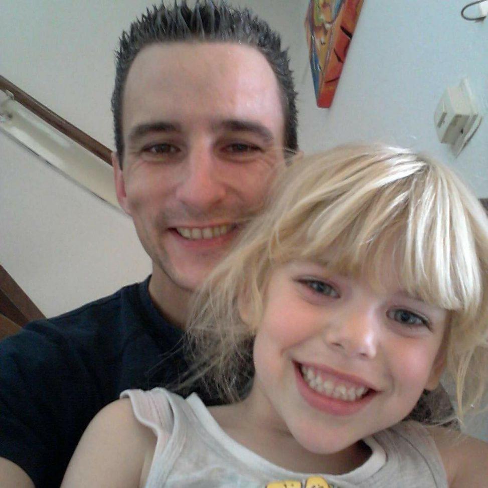 Victor Remouchamps met zijn inmiddels overleden dochter Sharleyne.